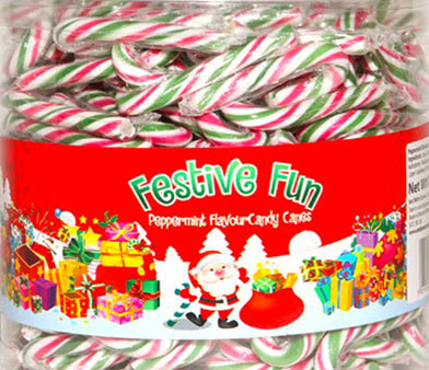 Mini Candy Canes Tub Of 250