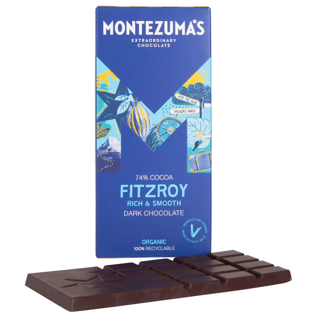 Montezumas 'Fitzroy' Rich & Smooth 74% Dark Organic Chocolate