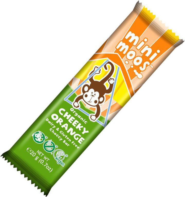 Moo Free Cheeky Orange Mini Moo Chocolate Bar