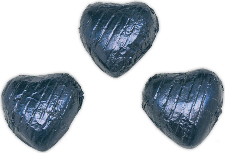 Navy Blue Chocolate Hearts