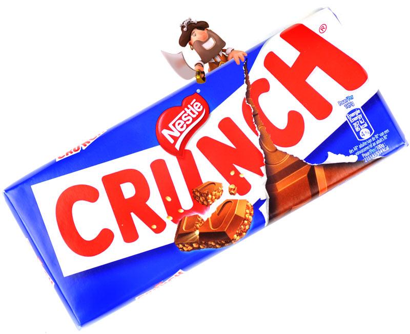 Nestle Crunch Milk Chocolate Bar 100g - treasureislandsweets.co.uk