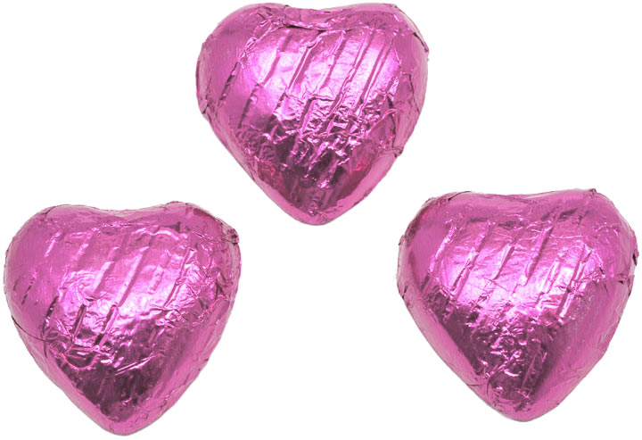 Pink Chocolate Hearts