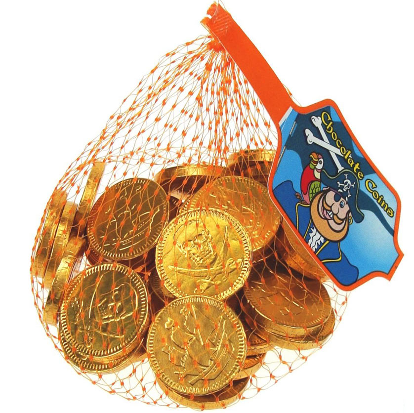 Pirate Coins Real Milk Chocolate Net Bags