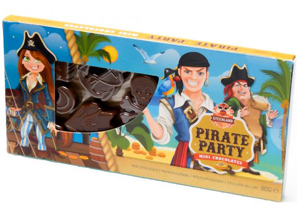 Pirate Party Mini Chocolates 90g Box