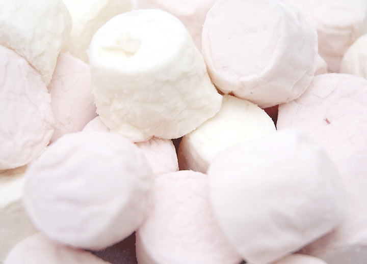 Princess Pink And White Marshmallows