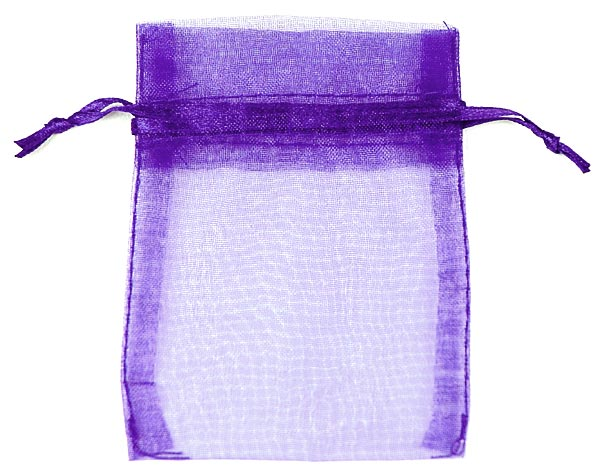 Purple Organza Bags x 10
