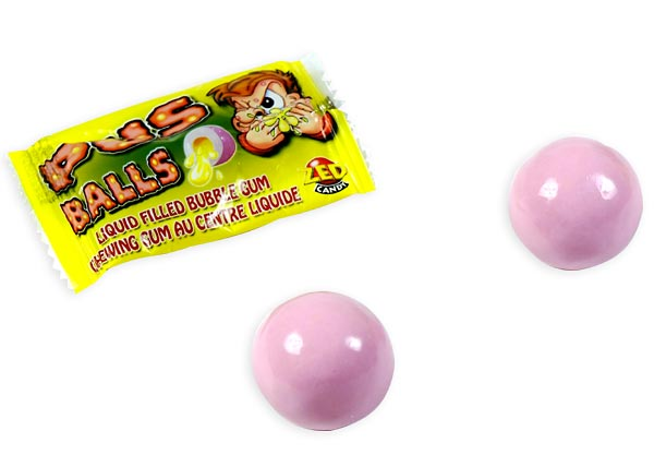 Pus Balls Liquid Filled Bubble Gum