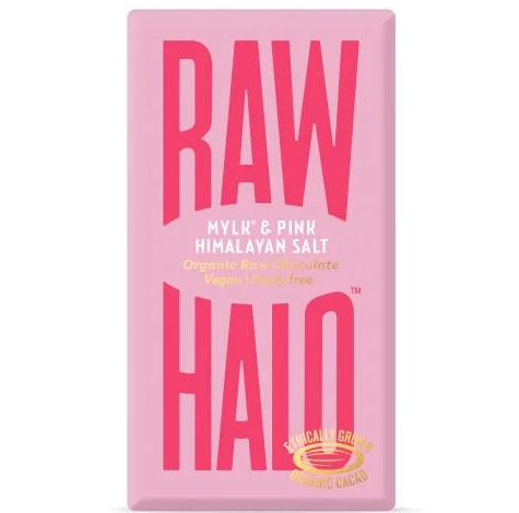 Raw Halo - Pink Himalayan Salt Organic Raw Mylk Chocolate 35g
