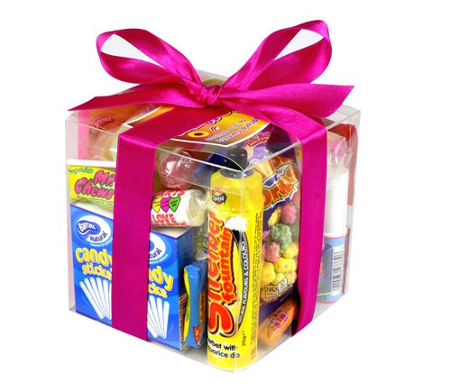Retro Sweet Cube Gift Box Of Old School Sweets