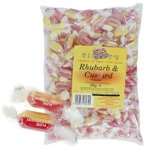 Rhubarb and Custard Wrapped Bulk Bag 3Kg