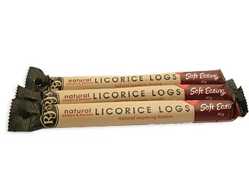 RJ's Soft Raspberry Liquorice Log 40g