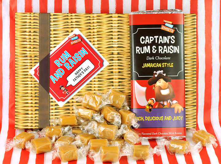 Rum And Raisin Wicker Effect Fathers Day Gift Box