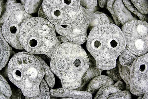 Salty liquorice Salt Liquorice Skulls Swedish Liquorice Sweets