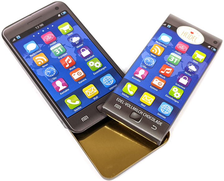 Chocolate Smart Phone In A Metal Tin