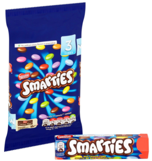 Smarties Tube (Pack of Three)