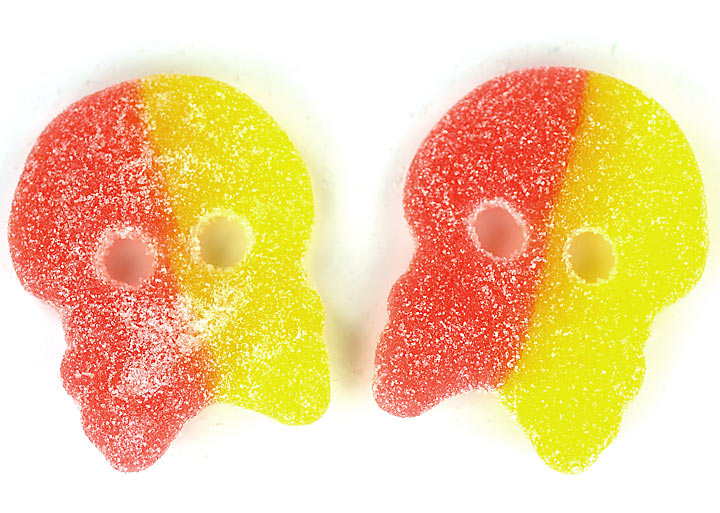Sour Lemon & Raspberry Skulls