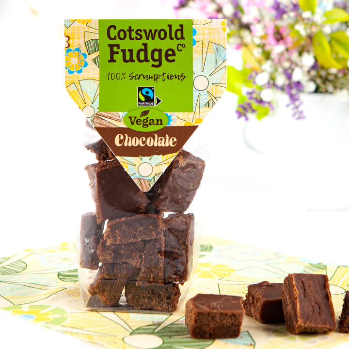 Cotswold Vegan Chocolate Fudge (Fairtrade) 150g - Best Before 01/05/20