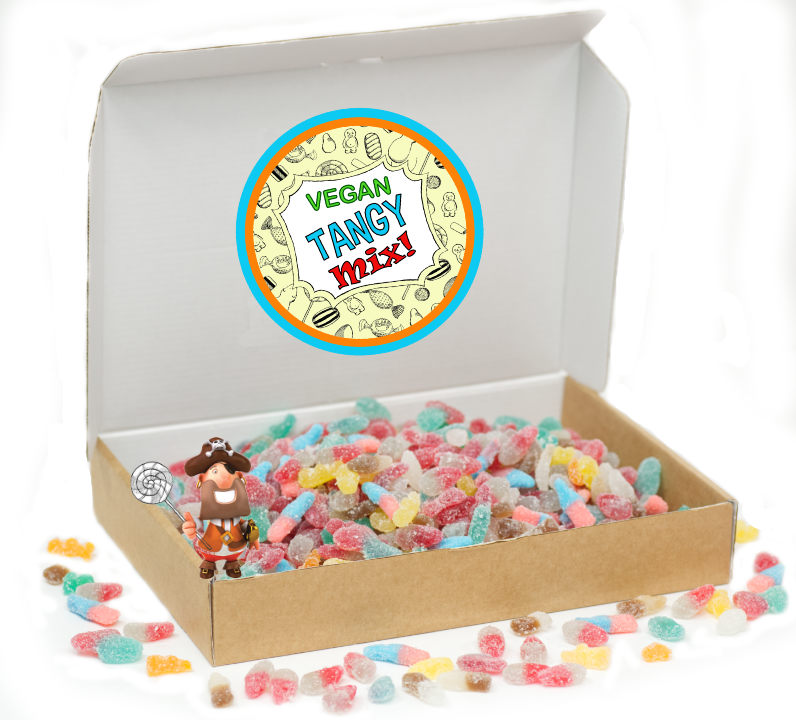 Vegan Tangy Mix Of Fizzy Sweets (Whopping 1Kg Gift Box)