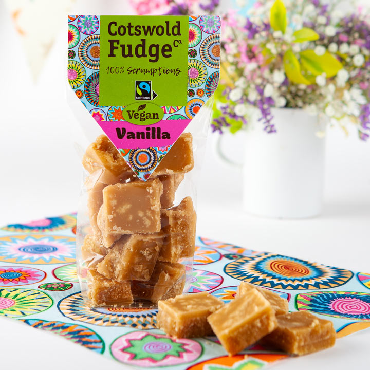 Cotswold Vegan Vanilla Fudge (Fairtrade) 150g
