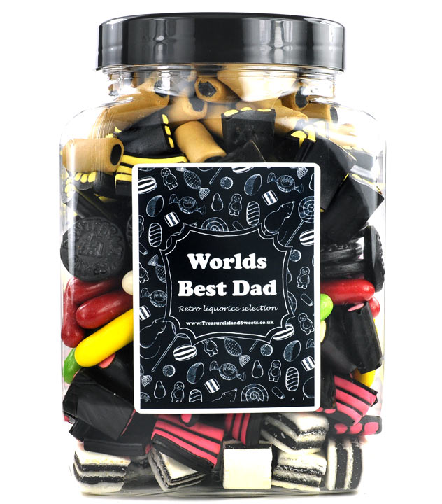 World's Best Dad Liquorice Selection Jar
