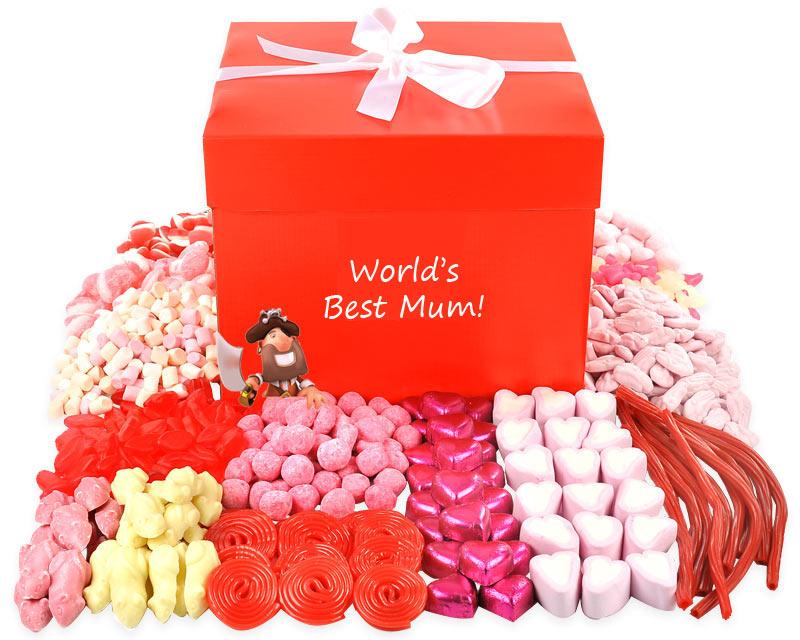 Worlds Best Mum Giant Chocolate Hamper