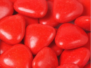 Red Chocolate Heart Dragees
