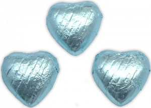 Light Blue Chocolate Hearts