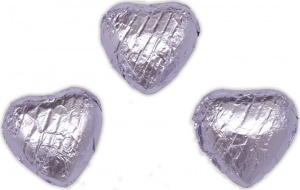 Lilac Chocolate Hearts