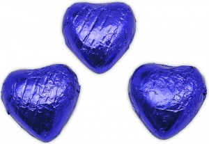 Midnight Blue Chocolate Hearts
