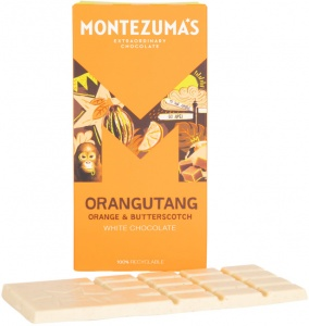 Montezumas 'Orangutang' Orange & Butterscotch White Chocolate