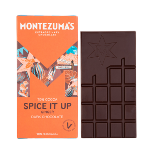 Montezumas 'Spice It Up' 70% Dark Chocolate Ginger Bar