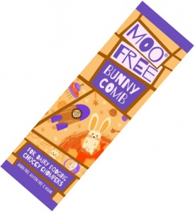 Moo Free Bunnycomb Mini Moo Chocolate Bar