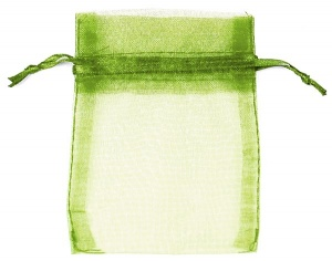 Olive Organza Bags x 10