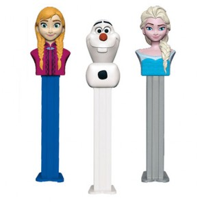 Pez Frozen Dispensers Box Of 12