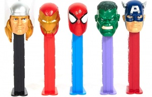 PEZ Marvel Dispensers Box Of 6