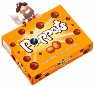 Poppets Orange Creams Theatre Box 154g