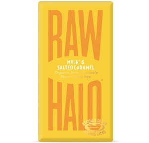 Raw Halo Vegan - Mylk & Salted Caramel Organic Raw Chocolate (35g)