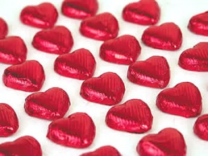 Red Hearts Milk Chocolate x 1200