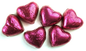 Rose Flavoured Chocolate Hearts