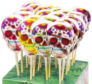 Skull lollipop (Day of the Dead themed)