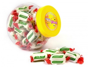 Spearmint Chews Sweet Jar