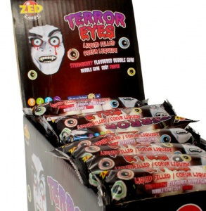 Terror Eyes Bubble Gum (Five Packs)
