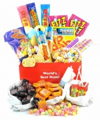 World's Best Mum Retro Sweet Hamper