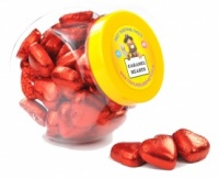 Red Caramel Truffle Hearts Jar