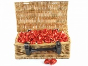 Caramel Truffle Hearts Wicker Hamper
