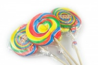 Rainbow Wheel Lollipop (100mm Diameter)