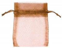 Brown Organza Bags x 10