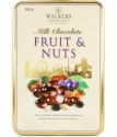 Walkers Milk Chocolate Fruit and Nut Tin 300g