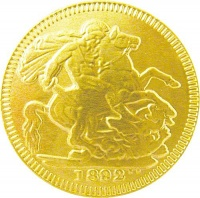 Gold Milk Chocolate Sovereign 38mm Coin (x 180 pcs)
