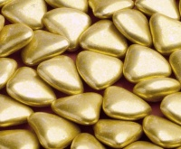 Gold Heart Chocolate Dragees